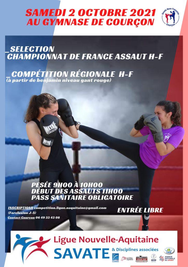 Courçon championnat boxe Française assaut 2021
